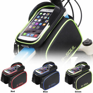 Bicycle Bike Touch Screen Handlebar Bag Pouch Holder Pannier 6''  Phone CB004