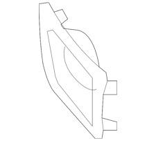 Genuine Toyota Fog Lamp Bezel 52127-35050