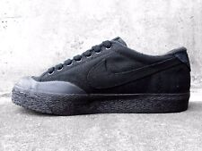 MEN'S SIZE 11 NIKE SNEAKERS SHOES CANVAS ALL BLACK SP / A.P.C. NIB SB ROCKSTAR