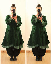 GREEN FLOATY FAIRY LONG TUNIC DRESS Plus Size 22 24 26 Gothic Lagenlook Baggy
