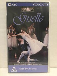 LA SCALAS BALLET GISELLE ~ ALESSANDRA FERRI & MASSIMO MURRU ~ RARE PAL VHS VIDEO