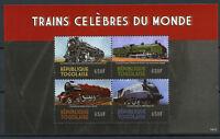 Togo 2014 MNH Famous Trains of World 4v M/S Locomotives Railways Rail Stamps