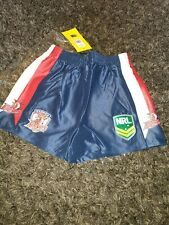 b944e9b323594d BOYS 14YRS NRL SOUTH SYDNEY ROOSTERS AWAY SHORTS RUGBY LEAGUE