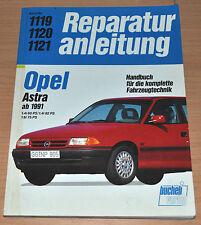 OPEL Astra 1,4 1,6 Liter Motor Benziner 1991 Handbuch Reparaturanleitung B1119
