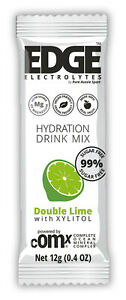 Edge Hydration Mix XLT 99% Sugar FREE Double Lime (12 pack x12g sachets)15% off