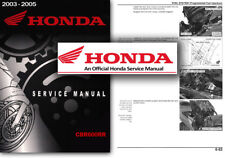Honda CBR600RR Service Workshop Repair Manual CBR 600 RR 2003 2004 2005 CBR600