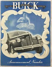 Orig Oct 1939 Buick Car Auto Magazine Announcement # With Full Catalog