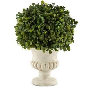 Faux Artificial French Topiary Ball Plant In Pot