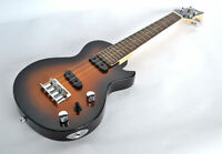 ELECTRIC SOLID BODY TENOR UKULELE STEEL STRINGS LES PAUL GUITAR SHAPE