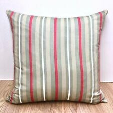 770. Handmade Grey & Red Stripes 100% Cotton Cushion Cover Various sizes