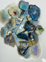 Australian Rough Dark Opal high potential , bright & colourful 125cts #679 VIDEO