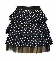 3 Layer Black Pastel Polka Dot Skirt Tutu Emo Alternative Clothing Goth