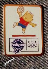 Handball Pin Badge~Barcelona 1992 Olympic Mascot Cobi~Sponsor~Pedigree