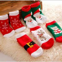 Kids Christmas Warm Slipper Socks Children Novelty Xmas Stocking Filler Gift NEW