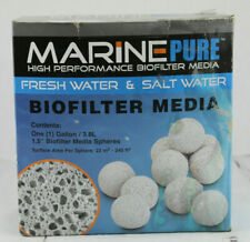 High Performance Biofilter Media MarinePure Spheres 1 Gallon 3.8 L Fresh or Salt