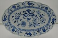 Hutshenreuther Germany Blue Onion Serving Meat Plate Oval