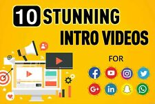 I will create 10 eye catching animated intro videos for your logo