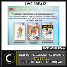 2021 TOPPS CLEARLY auténtico 10 Caja (mitad Case) romper #A1185 - Elige Tu Equipo
