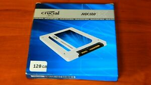 """Crucial MX100 SSD 128GB 2.5"""" SATA Solid State Drive SSD in Open Box"""
