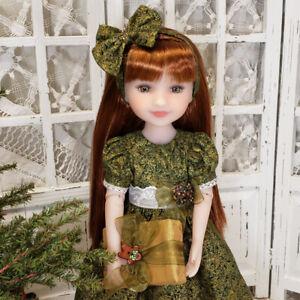 ~ CHRISTMAS GOLD ~ 6 pc Green DRESS SET Ruby Red Fashion Friends Dolls RRFF New
