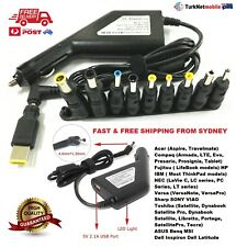 90W Universal Car Charger Adapter For Laptop Notebook With 11 Tips