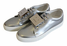 Acne studios Low Top Sneaker Adriana Glossy Cuir Argent Smiley T 40 NEUF
