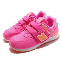 New Balance YV574OL W Wide Pink Orange Kid Preschool Shoes Sneakers YV574OLW