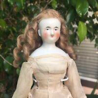 GORGEOUS!!! Antique German Biedermeier China Shoulder Head Doll