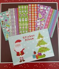 Christmas Sticker Album with 6 Sheets of Stickers & Sticker Album. stocking fill