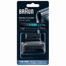 BRAUN Mens Shaver 10B/20B 1000/2000 Series 1 Foil + Cutter Pack Head Replacement