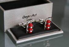 Novelty Mens Cufflinks - Red Fire Extinguisher Fireman Gift *New*