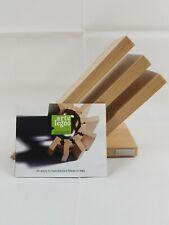 Arte Legno Beechwood 3 Element 6 Capacity Wooden Magnetic Knife Block Holder