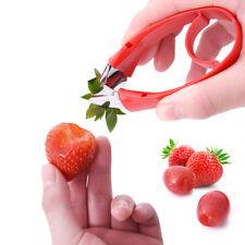 Strawberry Stem Leaves Huller Remover Removal Fruit Corer Kitchen Tool