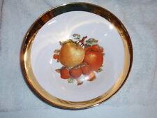 JKW West Germany 1930 Fruit Pattern Serving Bowl With Gold Encrusted Rim