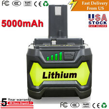 2XFor Ryobi P108 18V 6.0Ah Battery P108 P104 P102 High Capacity Lithium Ion P122