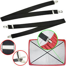 Adjustable Bed Fitted Sheet Straps Suspenders Gripper Fastener Clips 27.56inch