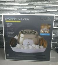 LUX Indoor Countertop Electric Stainless Steel S'mores Maker w/ SERVING FORKS