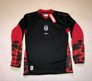 "England Goalkeeper Shirt 2002 2003 2004 / Size 33"" / BNWT RARE HOLY GRAIL"