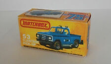Repro Box Matchbox Superfast Nr. 53 Flareside Pick Up