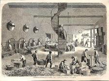NICE PARFUMERIE WARRICK GRAVURE ILLUSTRATION 1863