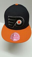 MITCHELL & NESS NHL PHILADELPHIA FLYERS BLACK/ORANGE FLAT BRIM FITTED HAT 6 7/8