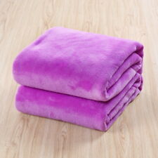 Violet King Size Plush Fannel Fleece Blanket Soft Luxury Sofa Bed Throw gift