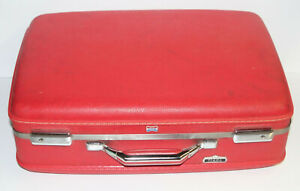 "Vintage American Tourister Tiara 21"" Red Hard Shell Travel Suitcase Luggage"