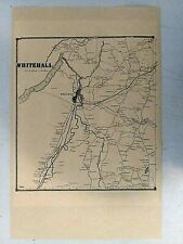 Reproduction 1866 Map- Whitehall New York-Washington County-Man Cave-Cabin Decor