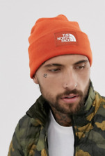 The North Face Dock Worker recycled beanie in orange, Brand new