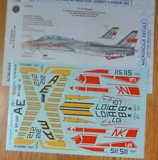 Microscale Decal #AC48-0044 F-14 Tomcats VF-1, VF-14 & VF-12 Decal