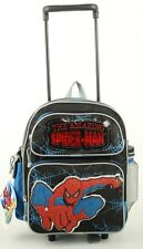 """Brand New Spider-man Small 12"""" Boys Rolling Backpack With Free Water Bottle!!!!"""