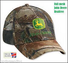 Nuevo Malla Completa John Deere Realtree Camuflaje casquillo del camionero Camo Caza Hunter Sombrero