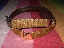 Cinturon Roberto Bellido vintage Beige imitando animal ? con chapa dorada