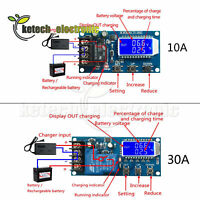10A/30A LCD Lithium Battery Charge Control Module Protection Board 6-60V L2KE